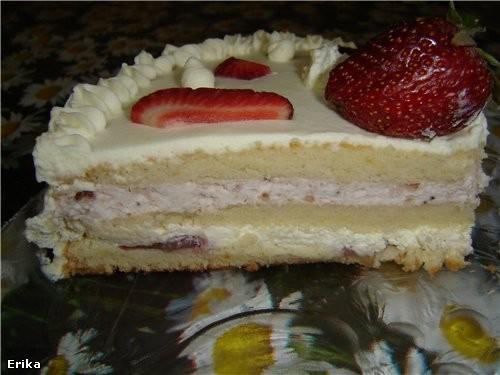 Клубничный тортик: