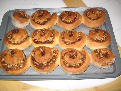 Роллы с корицей и орехами Очень ароматные булочки с корицей и орехами 1 чашка воды 1 чашка пореза... - 6