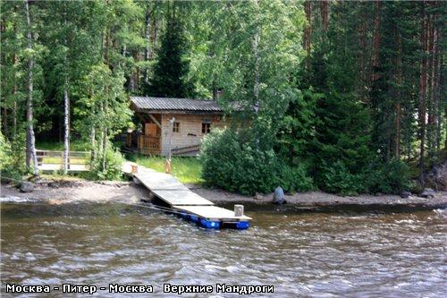 Подплываем к деревне Верхние Мандроги - 4