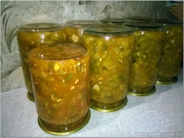 Заготовка из огурцов в томатном маринаде