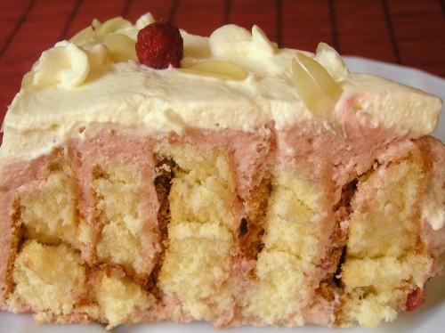 Торт-рулет с малиной Маковый торт с вишней Черно-белый торт с мандаринами - 2