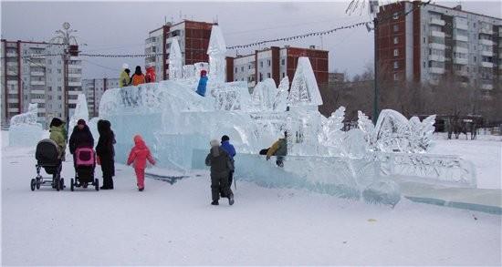 немножко красоты ледовой сюда поставлю рыбка желаний ледовая катушка вот и еще один новогодний праз... - 3