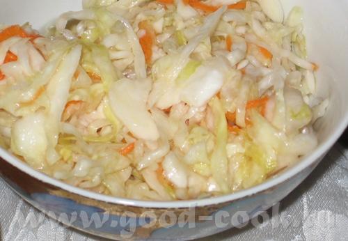 Еще один пятничный ужин: Капустный салат с зеленым луком и зеленью, заправлен подсолнечным маслом П... - 3