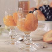 меня попросила найти рецепт персиков в вине