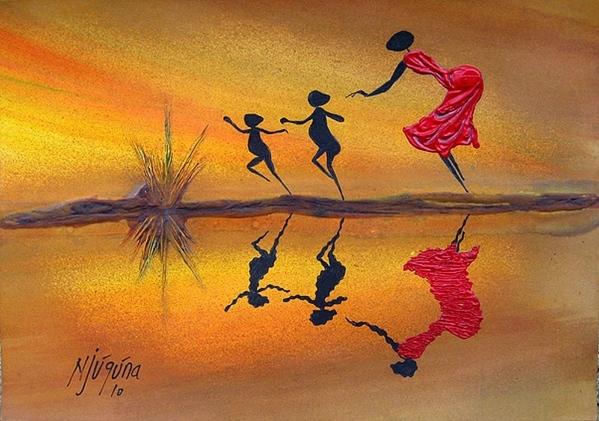 Вчера показали Африку Moder Art Decor, севодня- xудожники из Африки и то как они рисуют Африку Al A... - 6