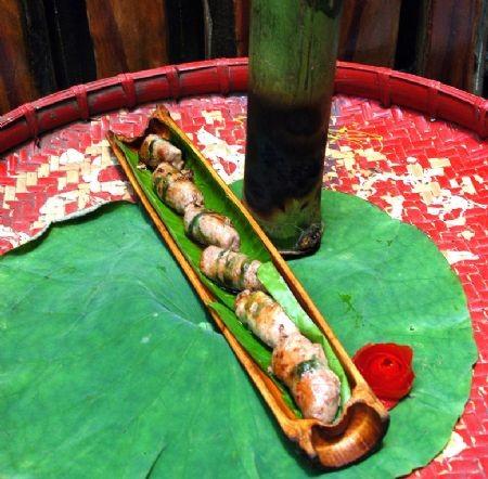 Говядина жареная в бамбуковом колене Для приготовления данного блюда следует выбрать свежую говядин...