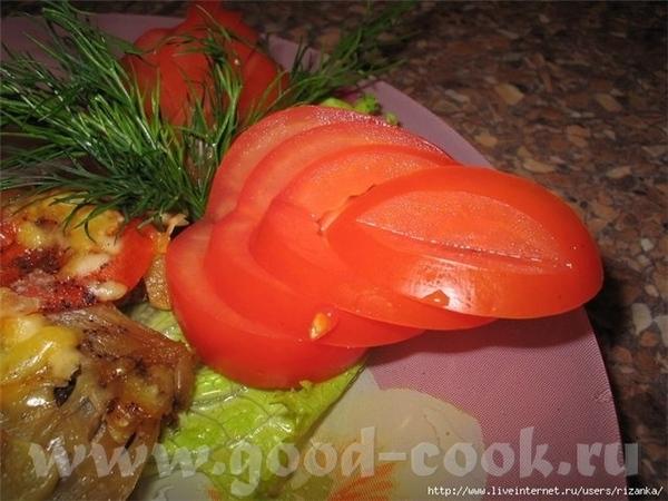ОТСЮДА УКРАШЕНИЕ ИЗ ПОМИДОРА Берется половинка помидора, вырезается попка, - 3