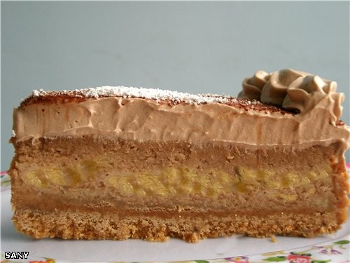 БАНАНОВЫЙ ЧИЗКЕЙК С ШОКОЛАДОМ В МИКРОВОЛНОВКЕ Для основания: 2 ст молотого шоколадного печенья 100... - 2