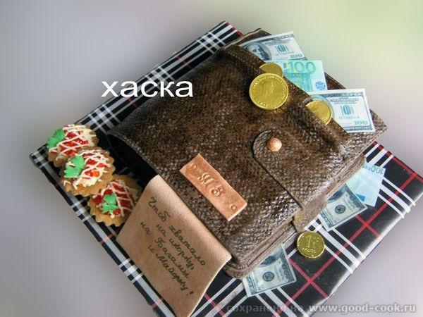 Торт кошелёк фото