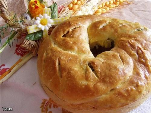 Корзиночки с тунцом и овощами Пирог-кольцо с мясом и яйцом - 2