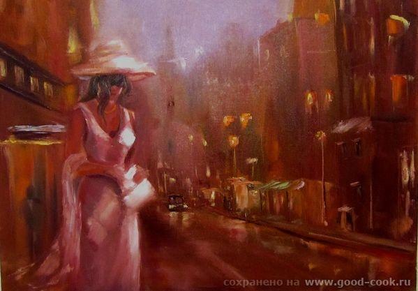 Девушка в ночном городе