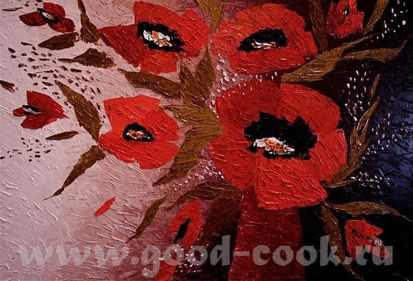 Еще цветочки мастихином Моя любимая картина - 2