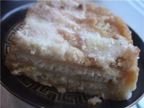 Постный вариант болгарского пирога с яблоками