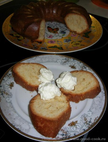 Творожный кекс, разрез