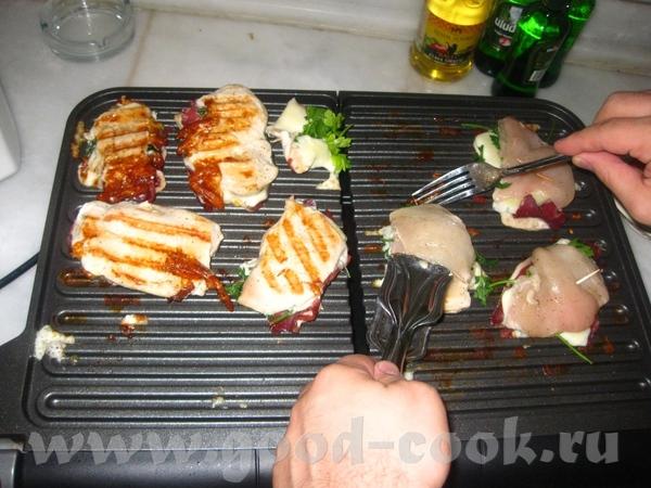 курица izgara отбитые кусочки филе посолить,поперчить,добавить измельчённый тмин