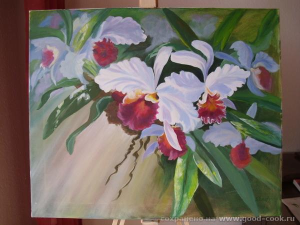 Орхидеи. по И. Сахарову. акрил. холст. 60 х 50