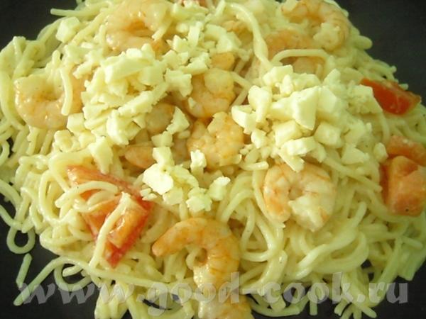 """Блюдo от milovidova, """"Мои Любимые Рецепты"""": Спагетти с креветками и рикоттой Очень вкусные спагетти..."""