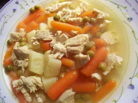 оранжевый суп пюре куриный суп с зеленым горошком фасолевый супчик - 2