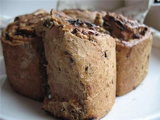 """""""розочки"""" из хлеба с ветчиной 350 г обойной муки из пшеницы(брала обычную белую),150 г ржаной муки,... - 5"""