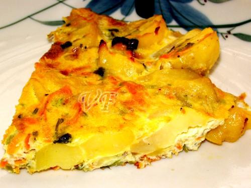 Готовила по маминым записям ) Фриттата овощная 500 г отварного картофеля 1 кабачок,натёртый на круп...