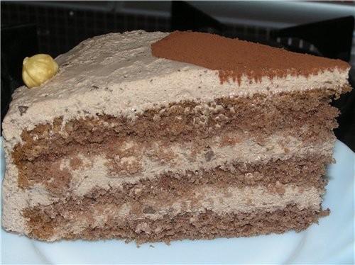 Коричный торт с шоколадом - 2