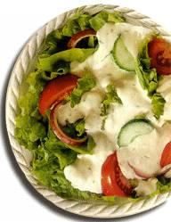 Зеленый салат (Green) - салат айсберг, помидоры, редис, огурцы и другие овощи по сезону с заправкой...
