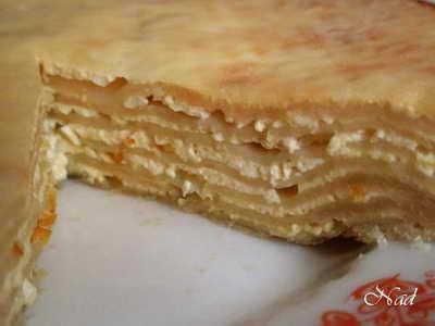 Слоеный пирог с овощами, брынзой или творогом (болгарская кухня) СОСТАВ: Для теста: - 1 ст