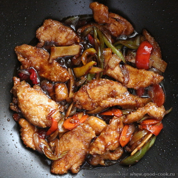 Курица в черноперечном соусе