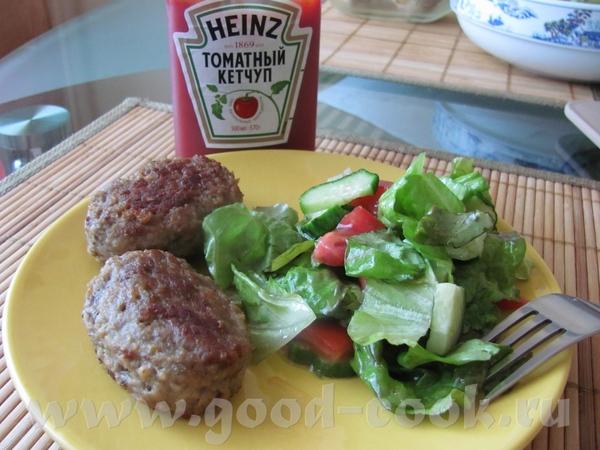 Овощной суп Котлеты из говядины и овощной салатик Сливовый манник Черешенка Угощайтесь - 2