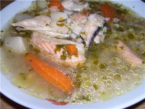 Суп перловый с сёмгой рецепт моей мамы на кастрюльку в 2-3 литра 0,5 кг сёмги (можно взять обрезь с...
