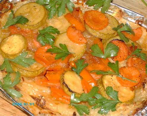 Сегодня на обед запекла в духовке Куриные грудки в маринаде для Шауермы и приготовила Овощной тарт... - 2