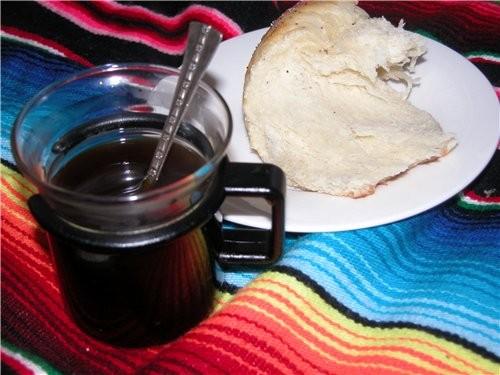 Субботнее утро началось в 12 дня с кусочка халы и чашечки GAFE DE OLLA 4 чашки воды 1/2 чашки тёмно...