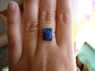 Я вообще украшений не люблю, но когда я увидела это колечко с афганским лазуритом (он темно-синий с... - 2