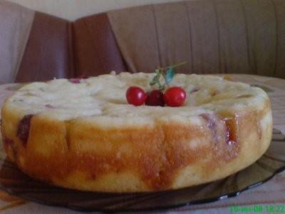 Манник с яблоками и вишней 200 г вишни без косточек (пока убирала косточки из вишни дочка слопала п...