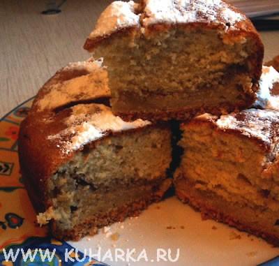 Сегодня делала ореховый кекс от Mili Получился очень ароматным и вкусным