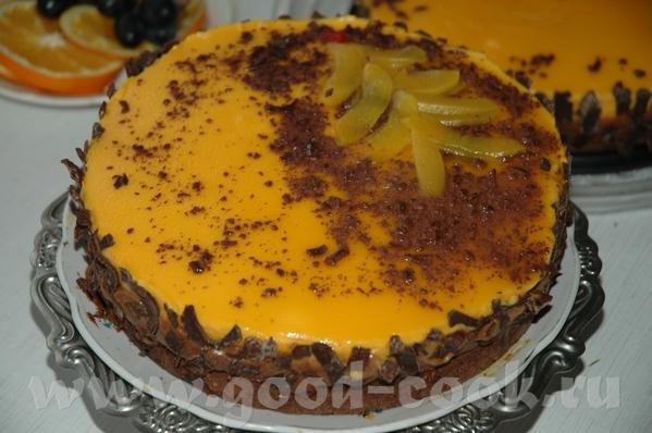 Шоколадно–абрикосовый торт из книги Янник Лефор «Шоколадный день» , упрощённый из-за отсутствия абр...