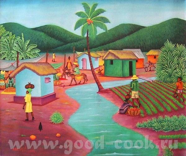 HAITI- Гаитянское искусство HAITI- xудожник J - 2