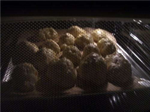 А вот ещё пирожки(из Хрущёвского теста) с клубничками