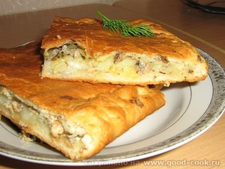 Пирог с картошечкой и рыбкой консервой