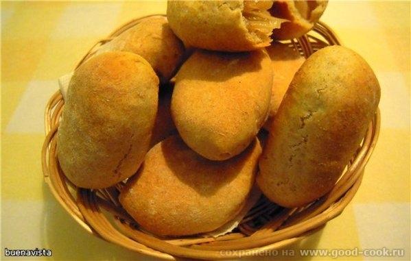 Постные пирожки с капустой Необходимо: для теста 3 стакана муки 2-3 ч