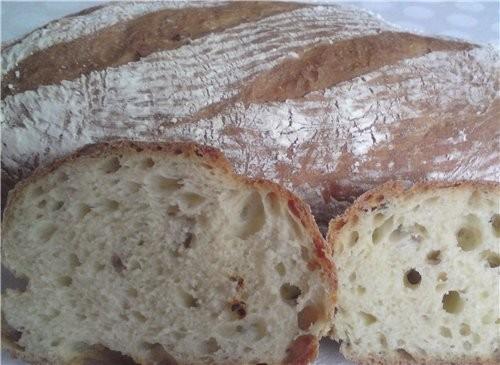 Хлеб с семечками и сушеными помидорами 10 гр прессованных дрожжей 600 гр белой пшеничной муки (+ 2... - 2