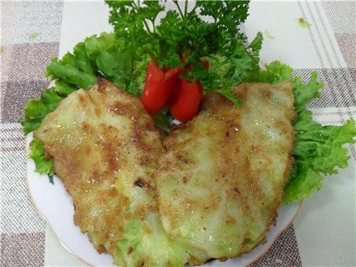 Шницель из капусты Ингридиенты на 1 порцию: 2 шницеля капуста 180 гр