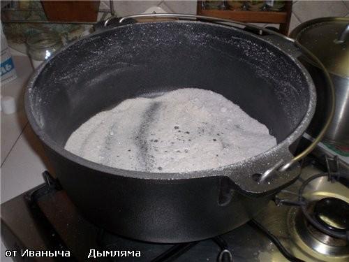 Дымляма на плите, но в казане, Готовим на плите и в духовке Был куплен новый казан - 2
