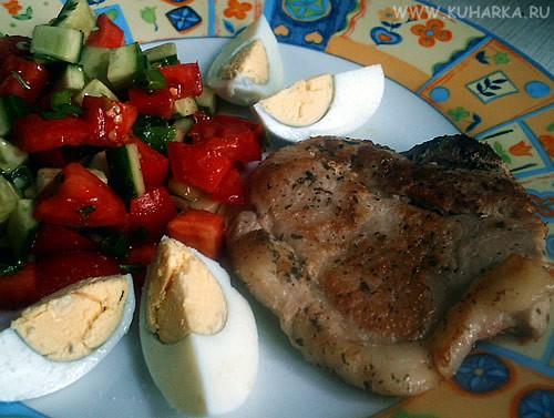 """А у нас сегодня на ужин были щи , свиные отбивные , салат """"Соната"""" от neposedka и ананасовый кекс о... - 2"""