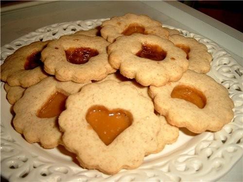 """Печенье «Окошко» - """"Winterfenster""""(Зимнее окно) Для этого печенья понадобится: - тесто, например, к..."""