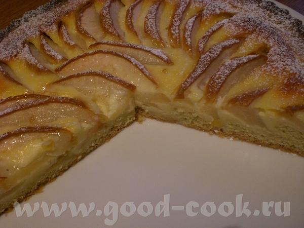 Birnentarte mit Creme Fraiche-Guss Грушевый тарт с заливкой из Крем-Фреш Замечательный тарт – нежны... - 2