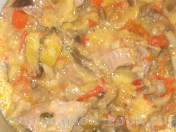 МЯСКО (ИНДЕЙКА) С ОВОЩАМИ индейка(у меня была голень) замороженные овощи-все,что было в морозилке:к...