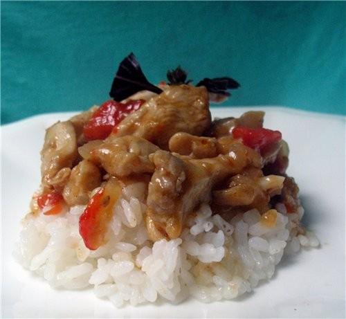 Цыпленок Кун-пао Быстрое в приготовлении китайское блюдо – очень ароматное, простое, но очень вкусн...