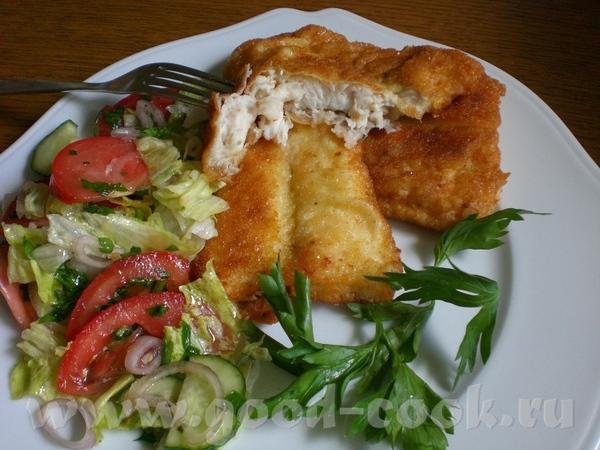 Bratfisch im Kartoffelmantel Рыба в картофельных хлопьях