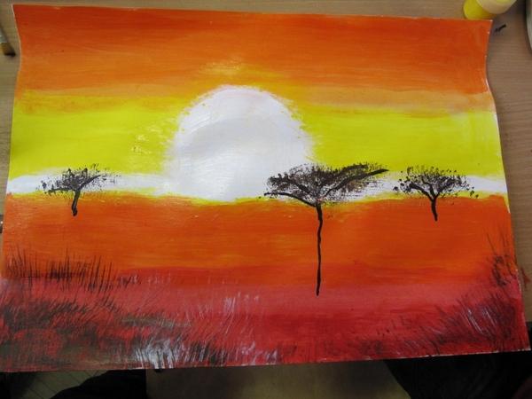 Как красиво нарисовать пейзаж акварелью?